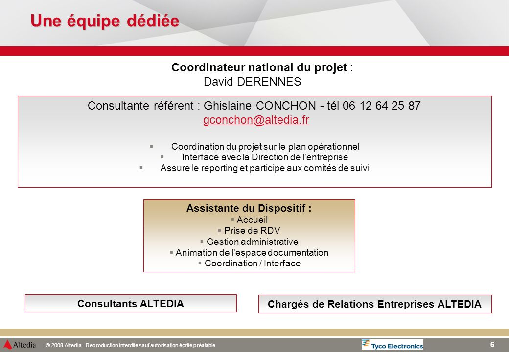 Assistante du Dispositif : Chargés de Relations Entreprises ALTEDIA