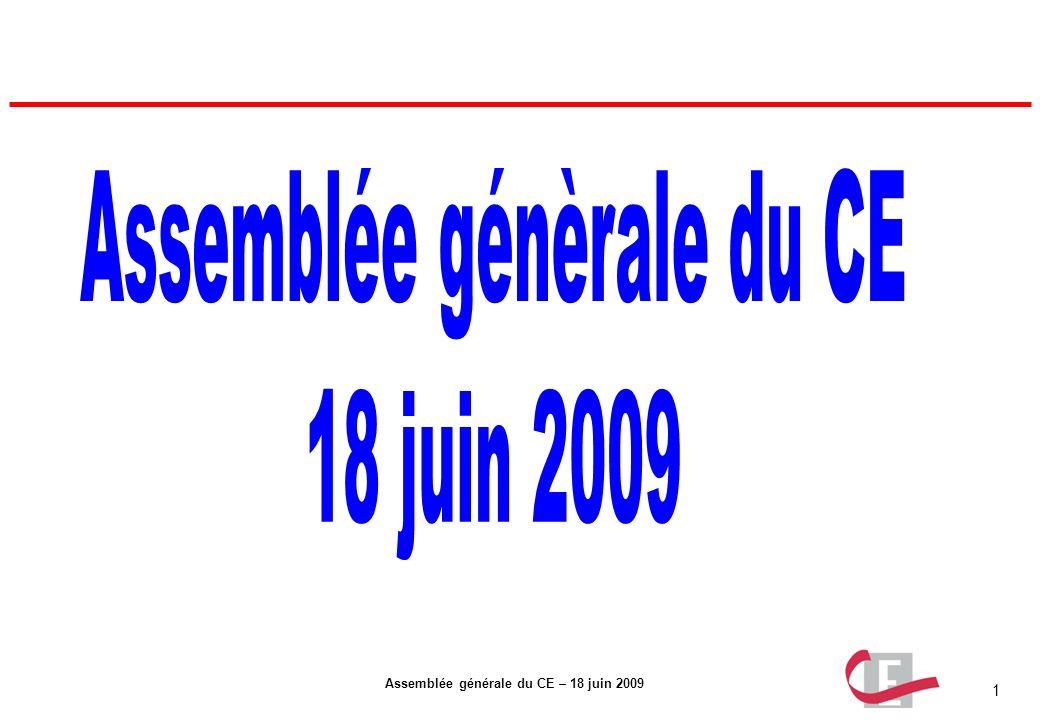 Assemblée génèrale du CE