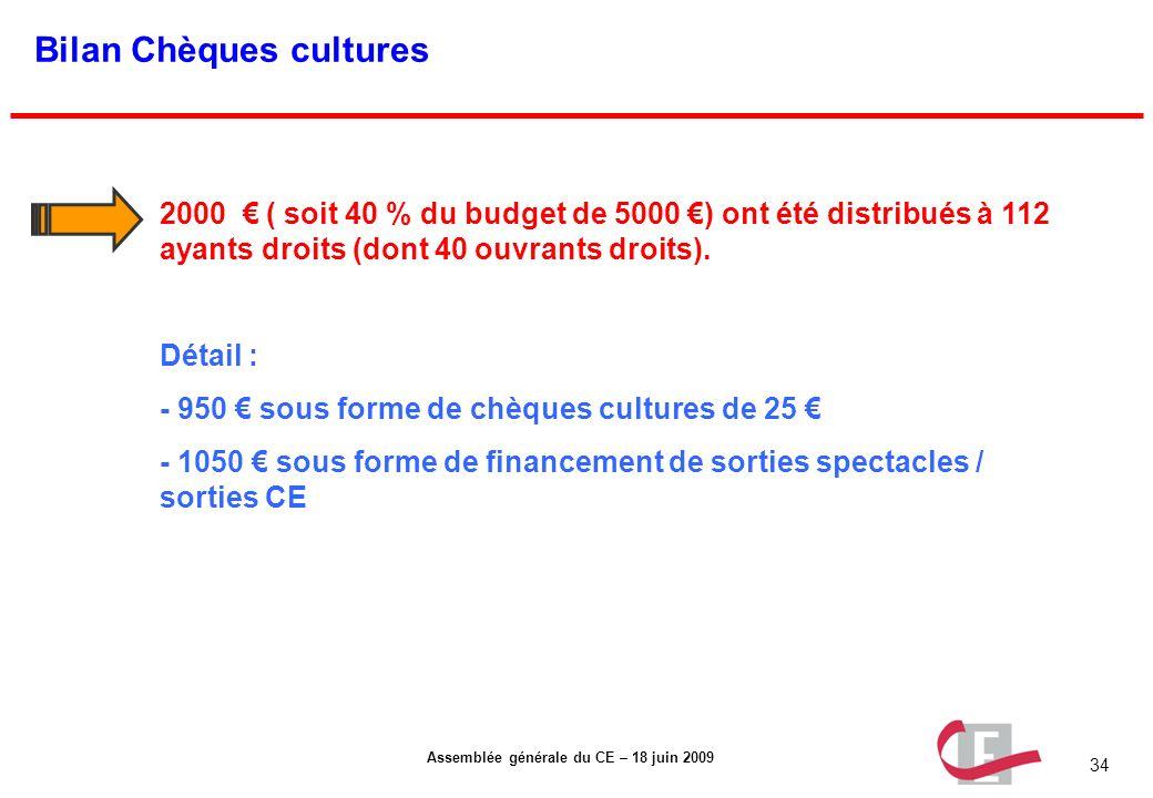 Bilan Chèques cultures