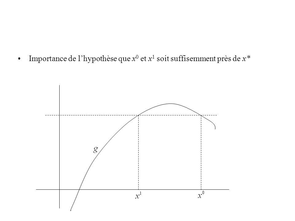 Importance de l'hypothèse que x0 et x1 soit suffisemment près de x*