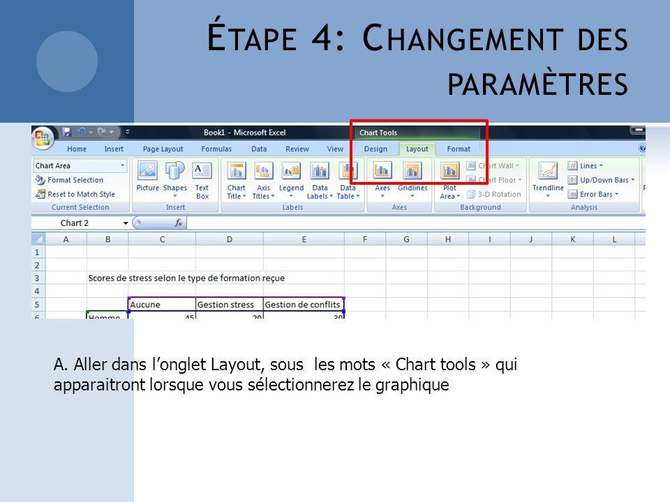 Étape 4: Changement des paramètres