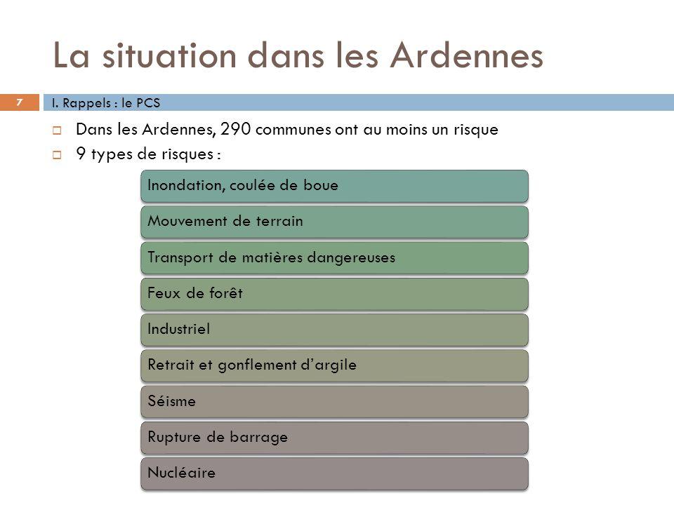 La situation dans les Ardennes