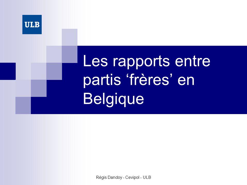 Les rapports entre partis 'frères' en Belgique
