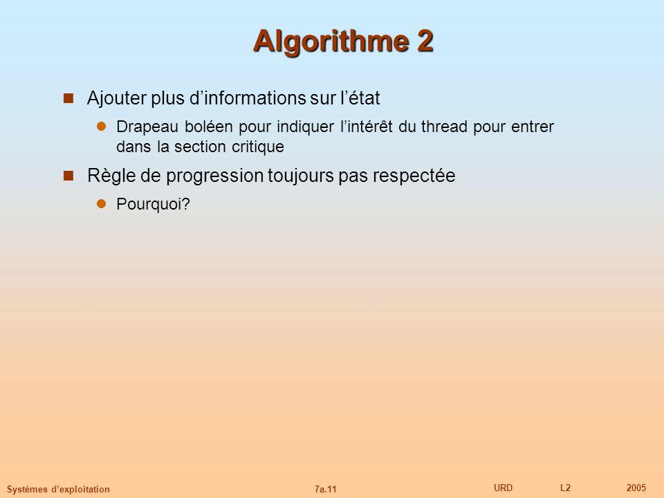 Algorithme 2 Ajouter plus d'informations sur l'état