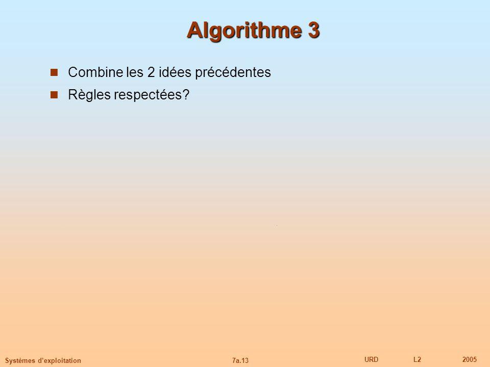 Algorithme 3 Combine les 2 idées précédentes Règles respectées