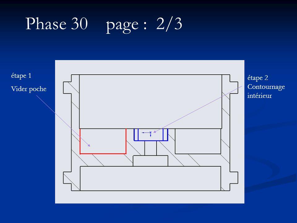 Phase 30 page : 2/3 étape 1 Vider poche étape 2 Contournage intérieur