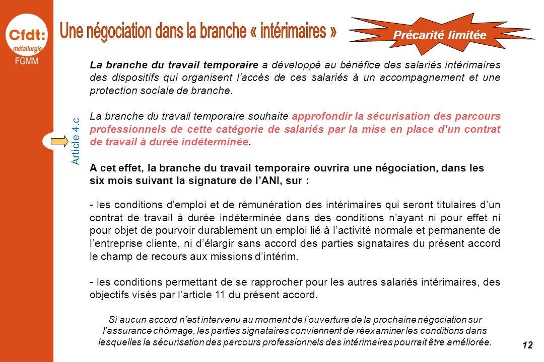 Une négociation dans la branche « intérimaires »