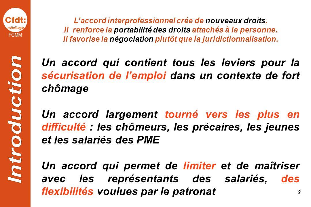 L'accord interprofessionnel crée de nouveaux droits.