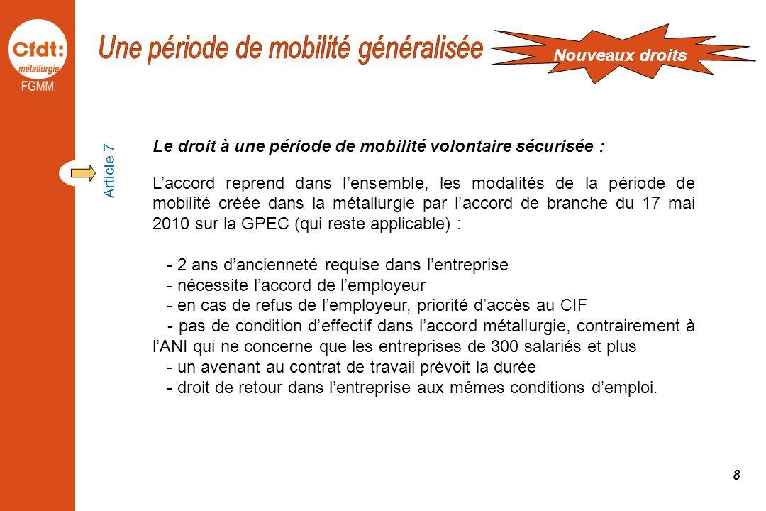 Une période de mobilité généralisée