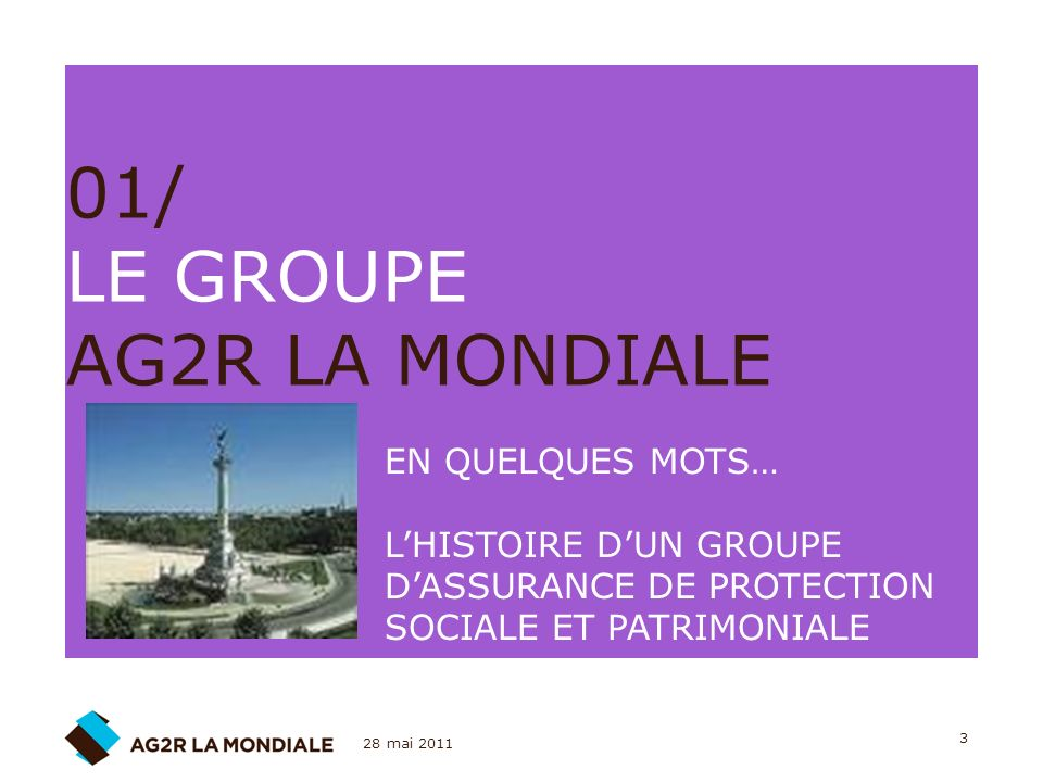 01/ LE GROUPE AG2R LA MONDIALE