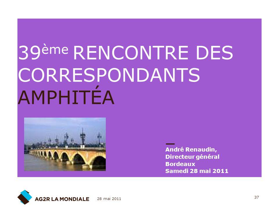39ème RENCONTRE DES CORRESPONDANTS AMPHITÉA