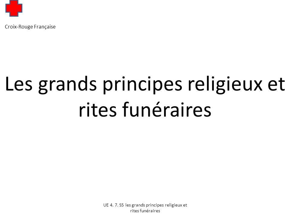 Les grands principes religieux et rites funéraires