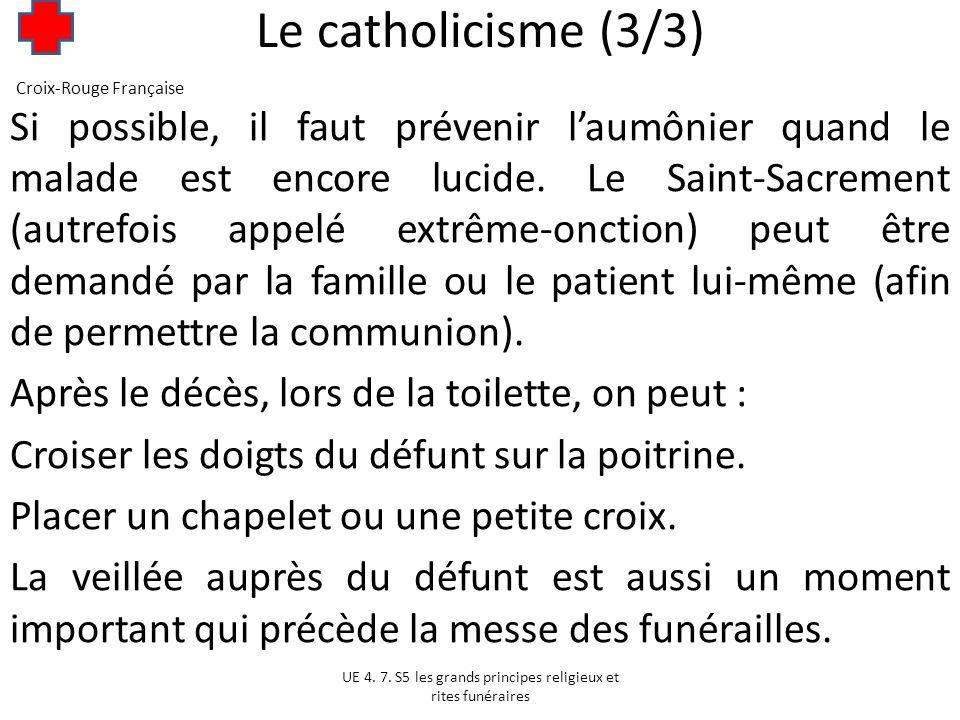 Le catholicisme (3/3) Croix-Rouge Française.