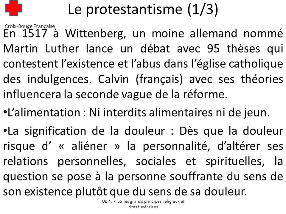 Le protestantisme (1/3) Croix-Rouge Française.