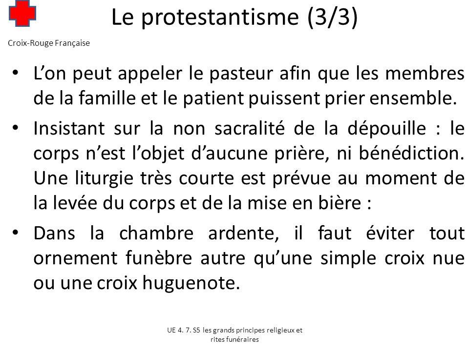 Le protestantisme (3/3) Croix-Rouge Française.