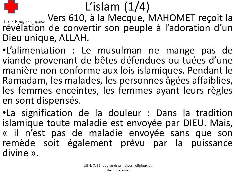 L'islam (1/4) Vers 610, à la Mecque, MAHOMET reçoit la révélation de convertir son peuple à l'adoration d'un Dieu unique, ALLAH.