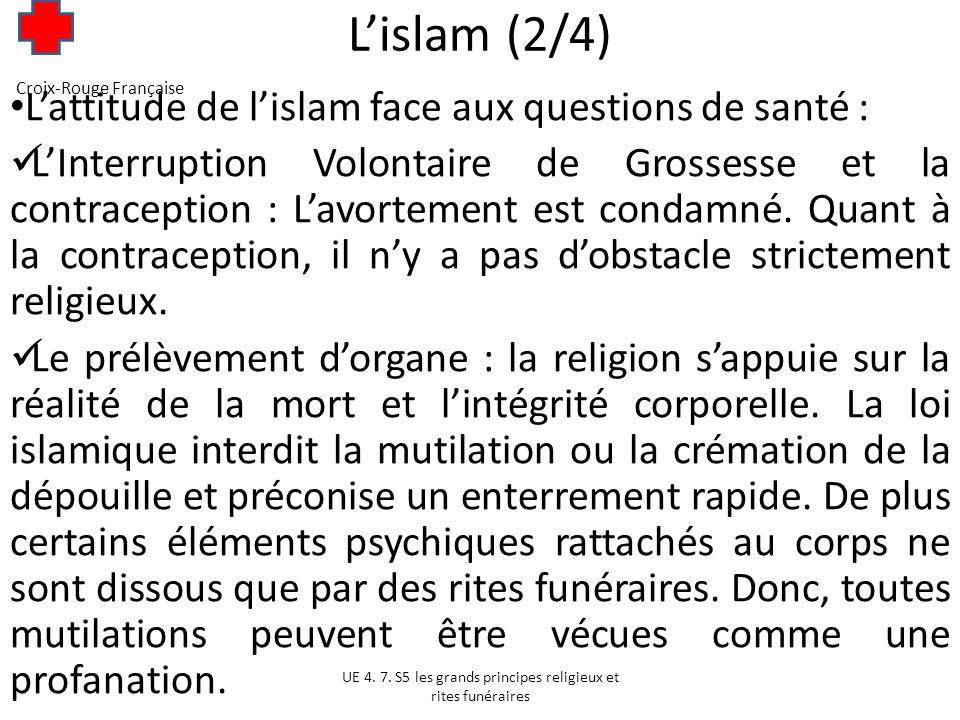 L'islam (2/4) L'attitude de l'islam face aux questions de santé :