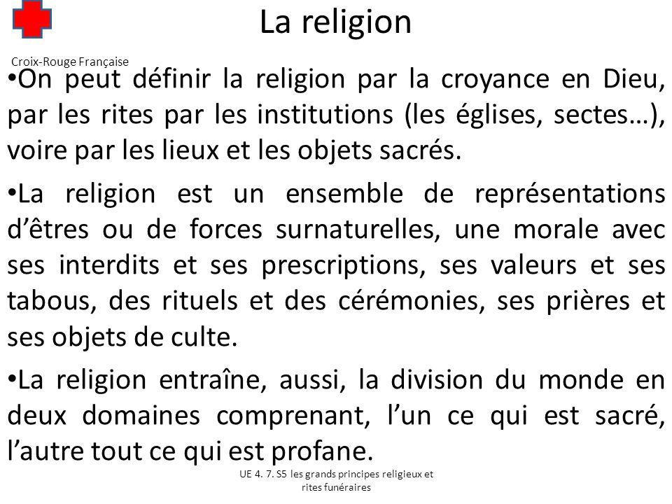 La religion Croix-Rouge Française.