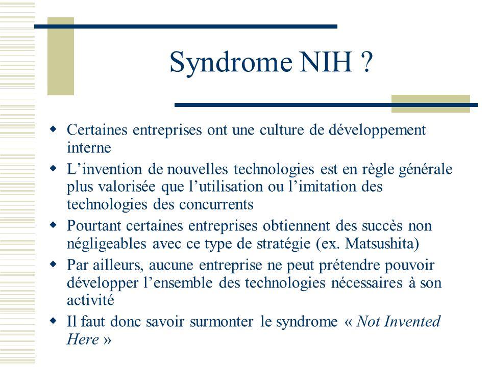Syndrome NIH Certaines entreprises ont une culture de développement interne.