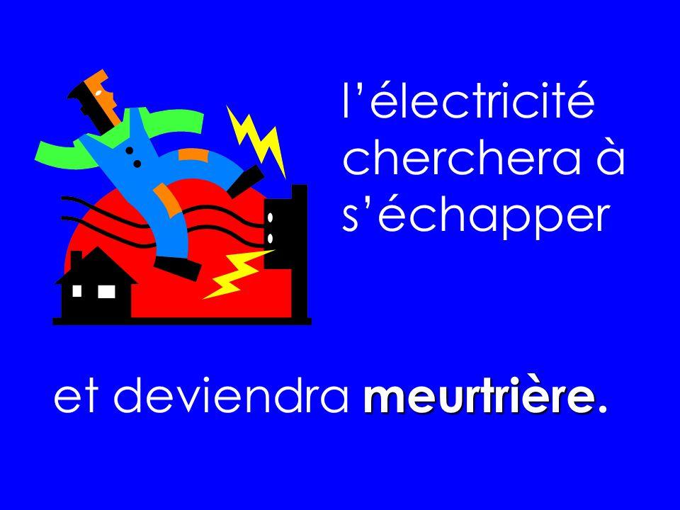 l'électricité cherchera à s'échapper