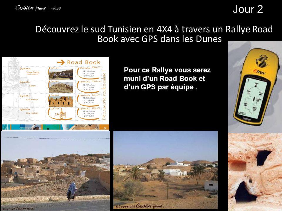 Jour 2 Découvrez le sud Tunisien en 4X4 à travers un Rallye Road Book avec GPS dans les Dunes.