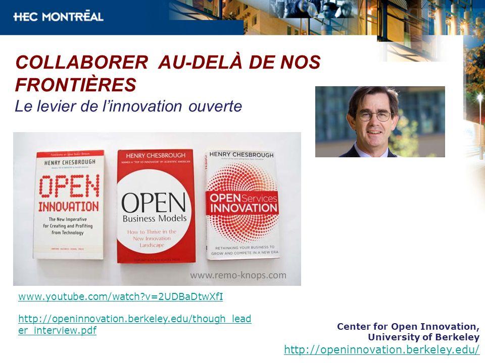 COLLABORER AU-DELÀ DE NOS FRONTIÈRES Le levier de l'innovation ouverte