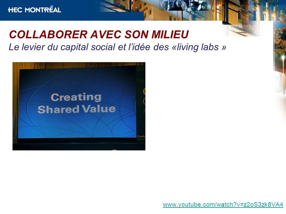 COLLABORER AVEC SON MILIEU Le levier du capital social et l'idée des «living labs »