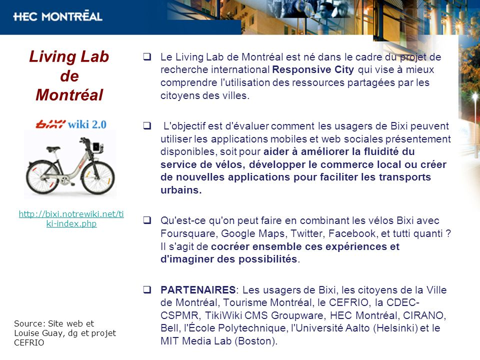 Living Lab de Montréal