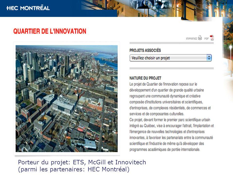 Porteur du projet: ETS, McGill et Innovitech