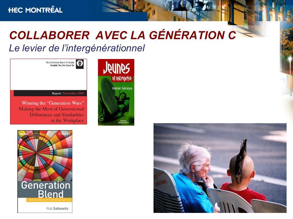 COLLABORER AVEC LA GÉNÉRATION C Le levier de l'intergénérationnel