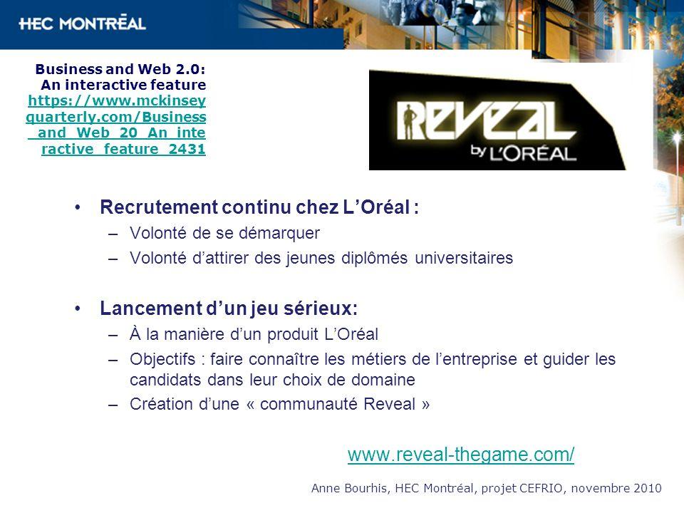Recrutement continu chez L'Oréal :