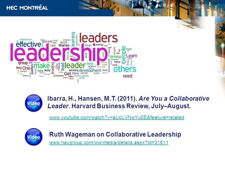 Ruth Wageman on Collaborative Leadership