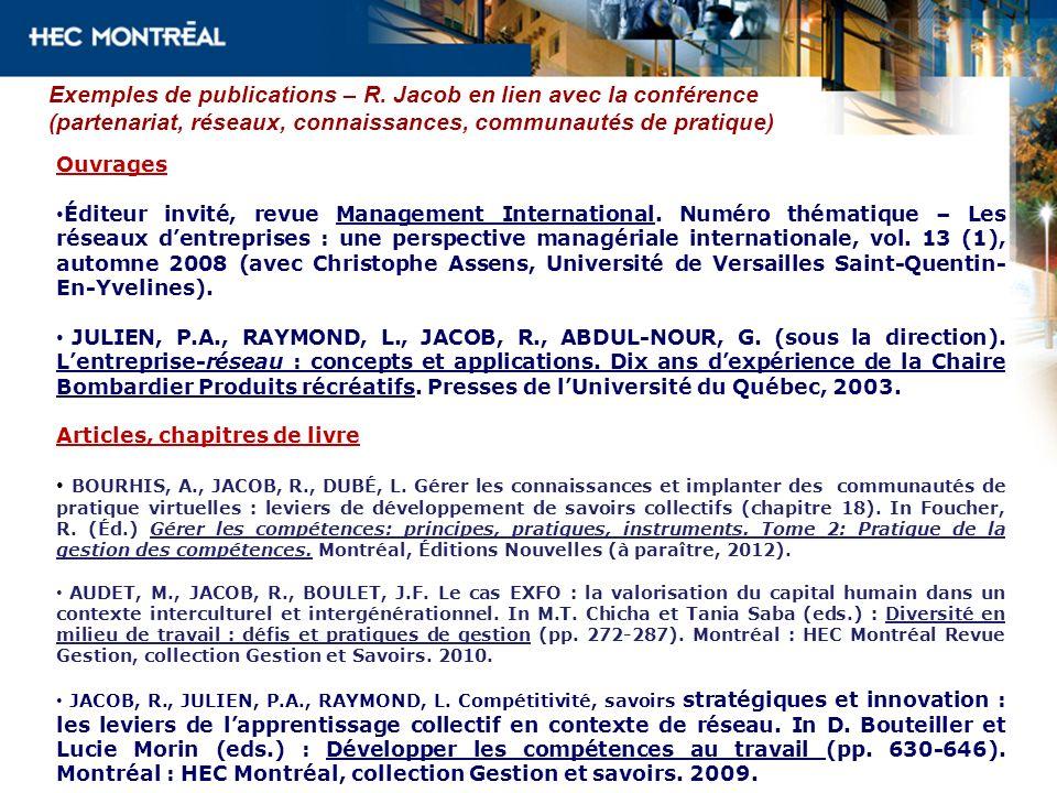 Exemples de publications – R