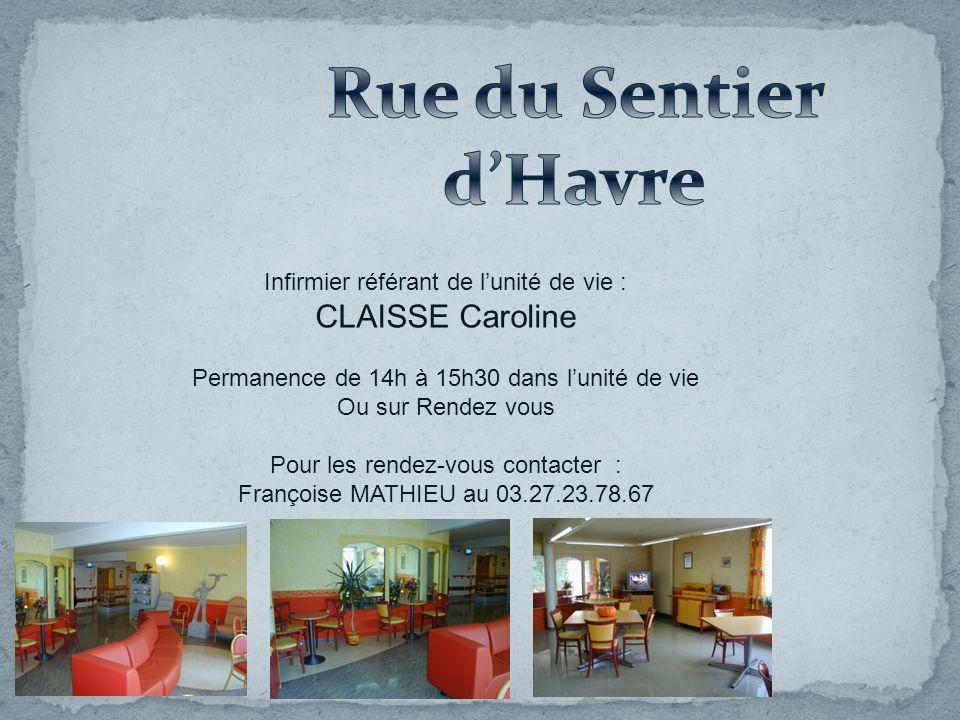 Rue du Sentier d'Havre CLAISSE Caroline