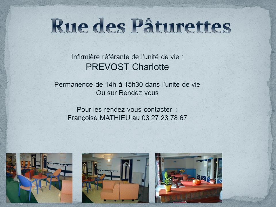 Rue des Pâturettes PREVOST Charlotte