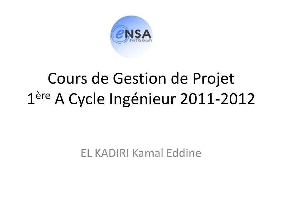 Cours de Gestion de Projet 1ère A Cycle Ingénieur 2011-2012