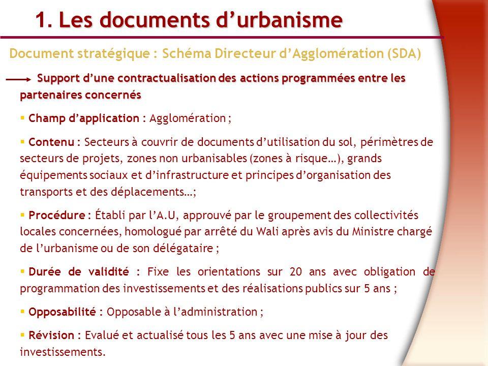 Document stratégique : Schéma Directeur d'Agglomération (SDA)