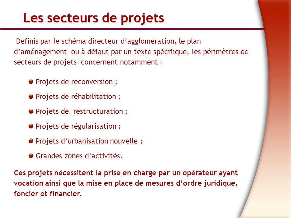 Les secteurs de projets