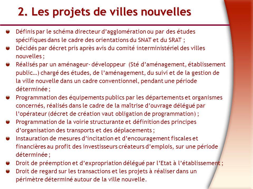 2. Les projets de villes nouvelles