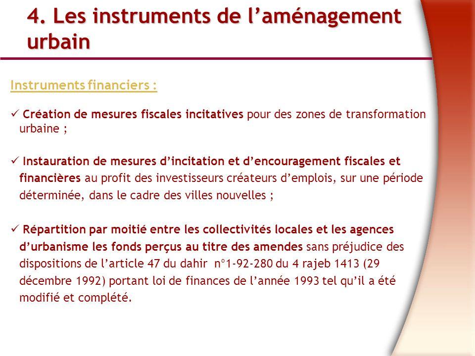 4. Les instruments de l'aménagement