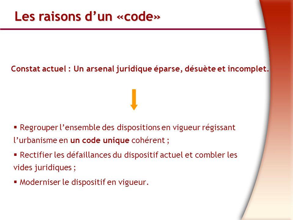 Les raisons d'un «code»