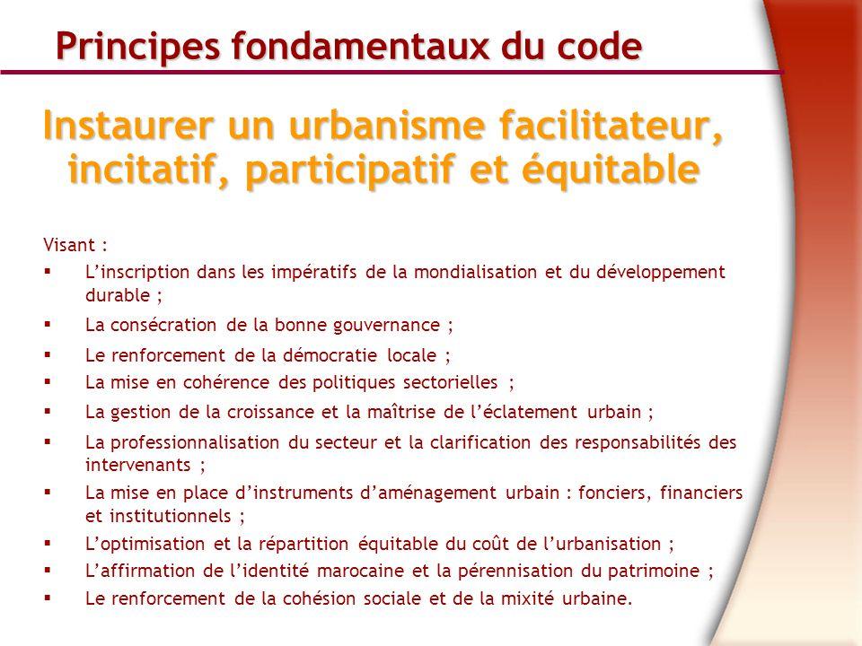 Principes fondamentaux du code