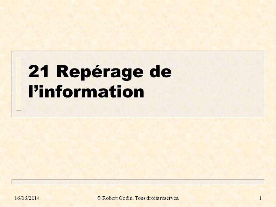 21 Repérage de l'information