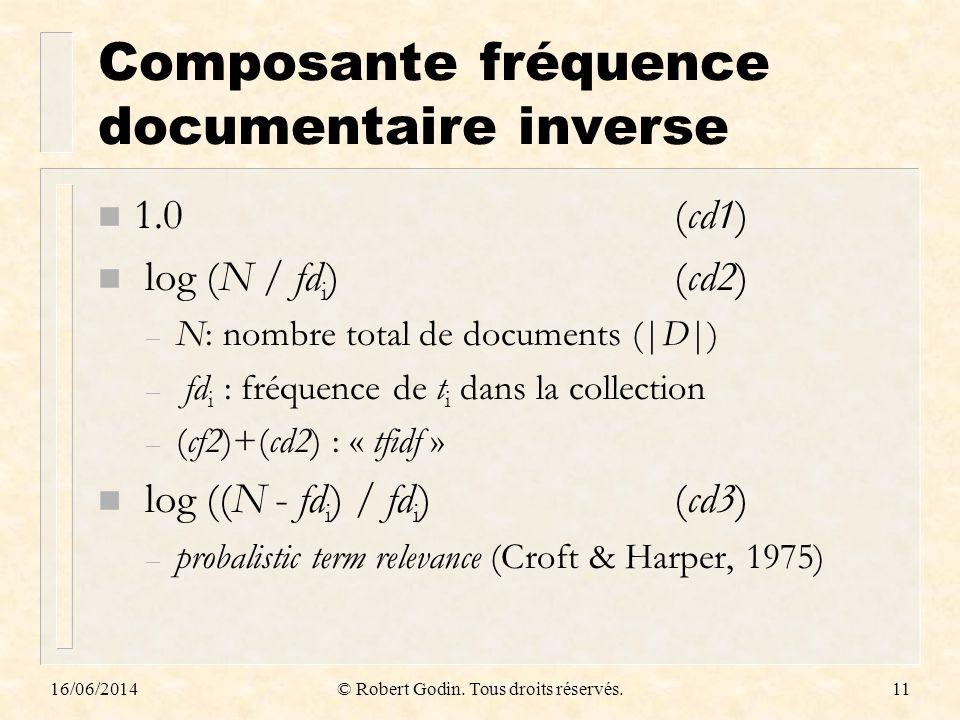 Composante fréquence documentaire inverse
