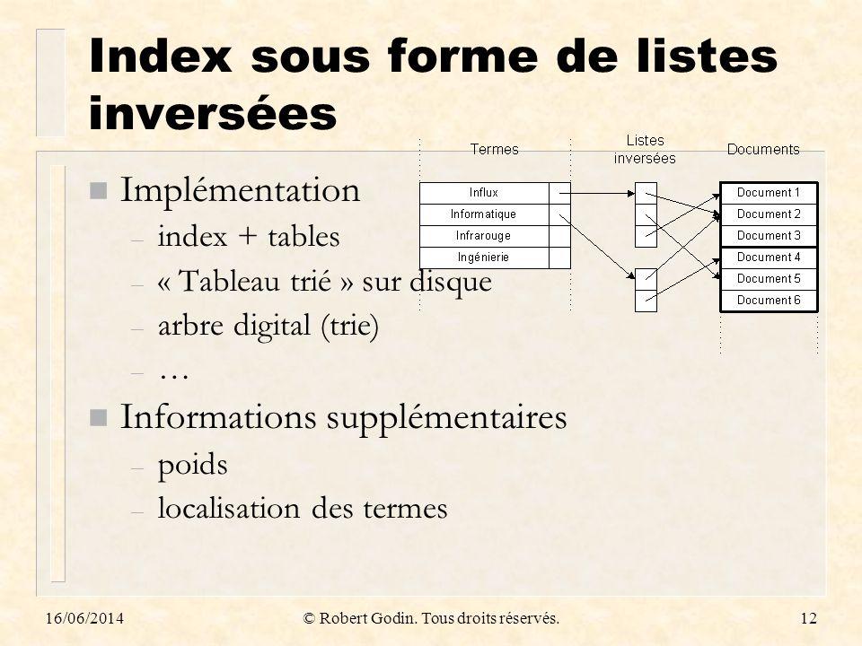 Index sous forme de listes inversées