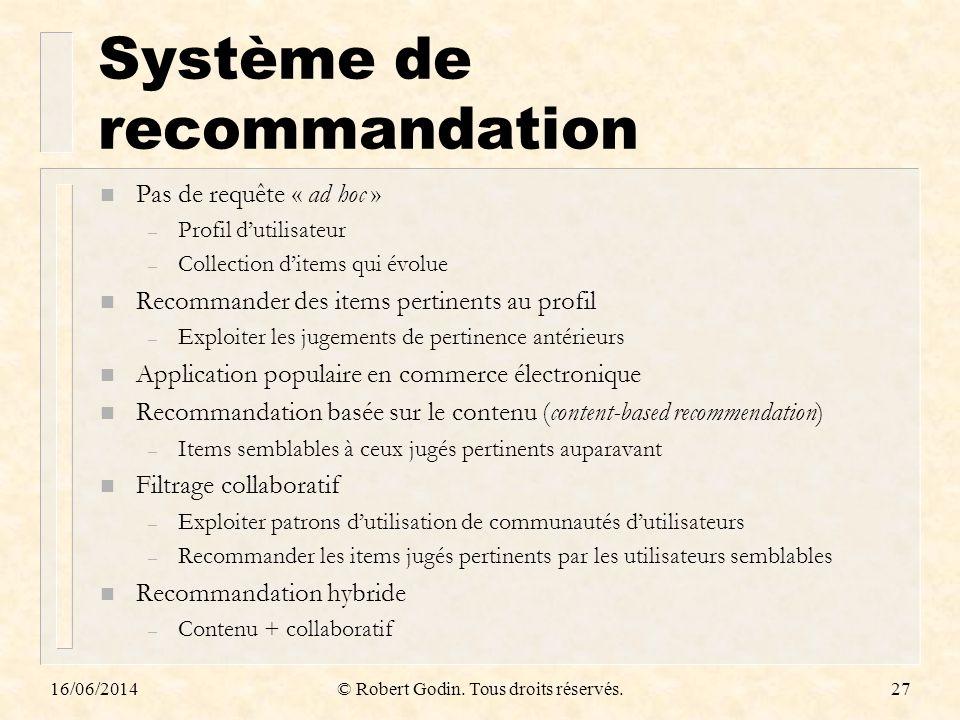 Système de recommandation