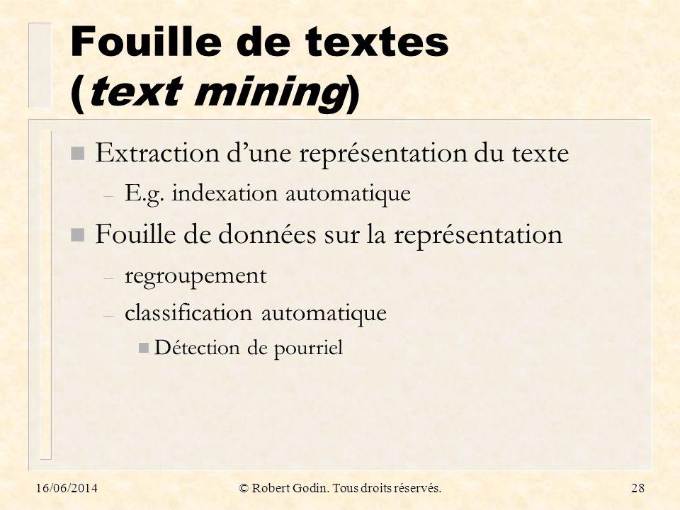 Fouille de textes (text mining)