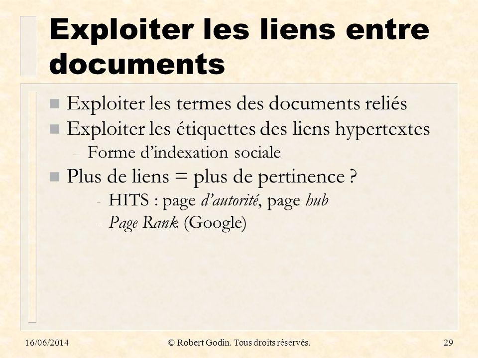 Exploiter les liens entre documents