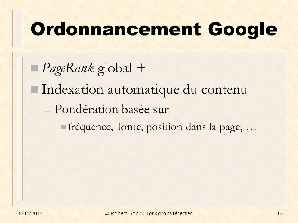 Ordonnancement Google