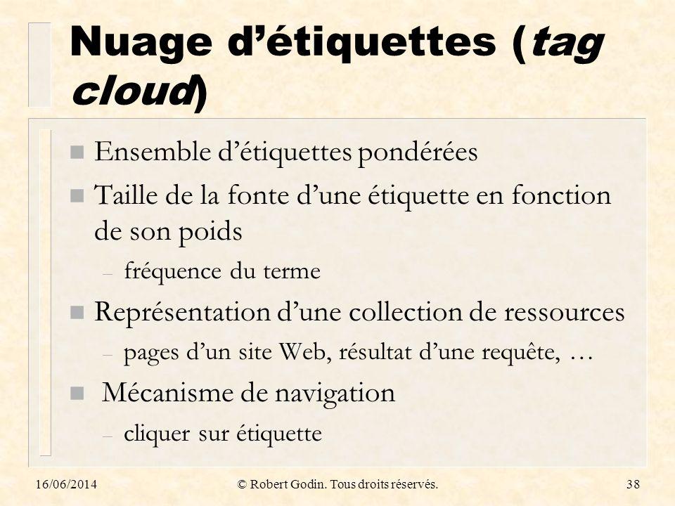 Nuage d'étiquettes (tag cloud)